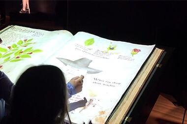 互动翻书投影 - 儿童教育 - 虚拟翻书 - 维莎道卡数字影像制作有限公司