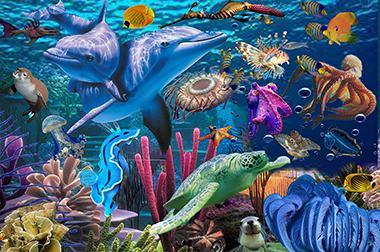 地面互动投影 - 幼儿游戏 - 小鱼鱼池 - 维莎道卡数字影像制作有限公司