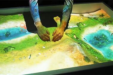 沙盘互动投影 - 流沙互动 - 流沙变换 - 维莎道卡数字影像制作有限公司