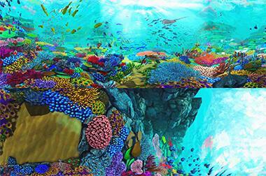 墙面互动投影 - 沉浸互动 - 海底世界 - 维莎道卡数字影像制作有限公司